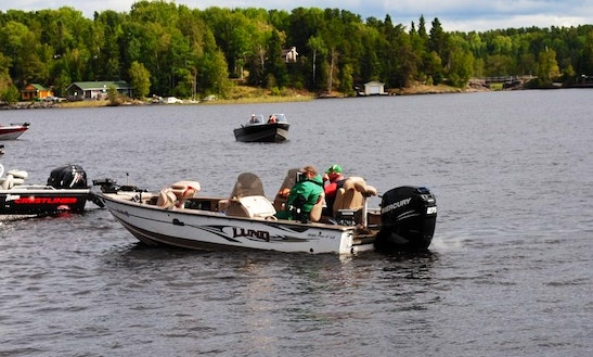 Bass Boat Fishing Charter In Red Lake, Canada