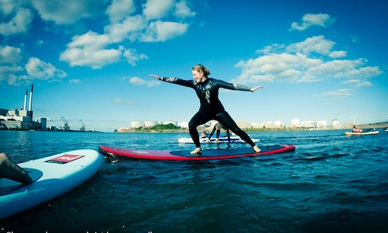 Sup Surfing In Denmark