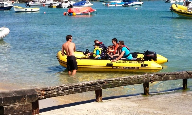 Hire Self Drive Inflatable Boat in St Ives