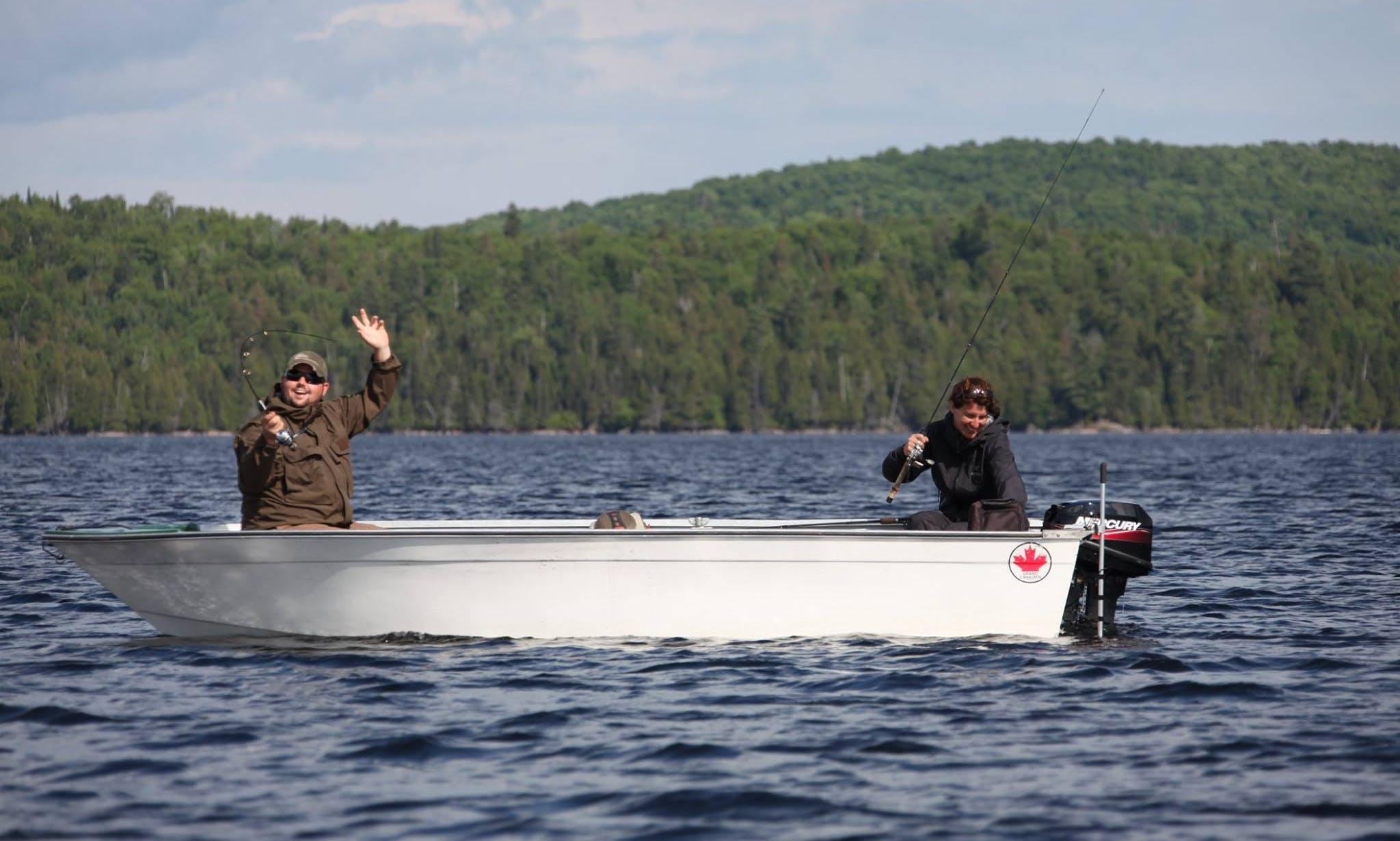 Bass Boat Fishing Charter in Maniwaki, Canada