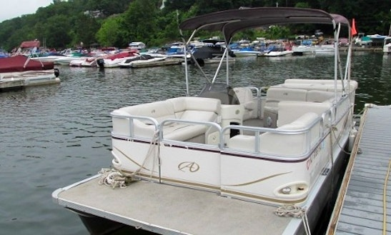 2 Hours Pontoon Boat Rental In Hewitt, New Jersey