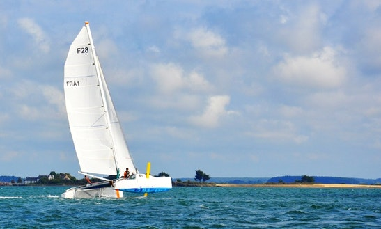 Cruising Catamaran Adventure For 6 Person On The Bay Of Quiberon, France