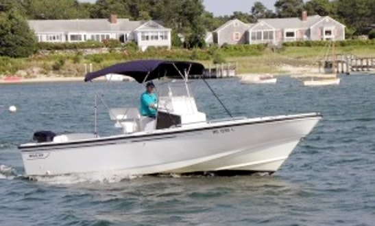 24ft Boston Whaler Outrage Luxury Center Console Boat Charter In Yarmouth, Massachusetts