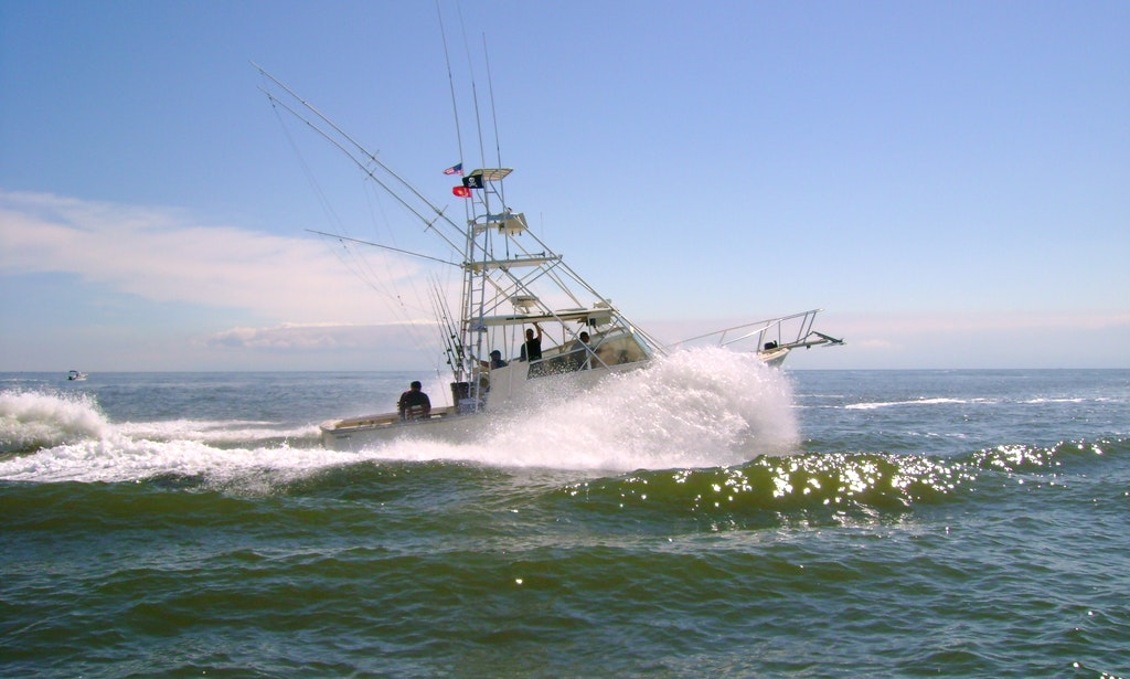 Sport fisherman boat fishing charter in cape may new for Charter boat fishing nj