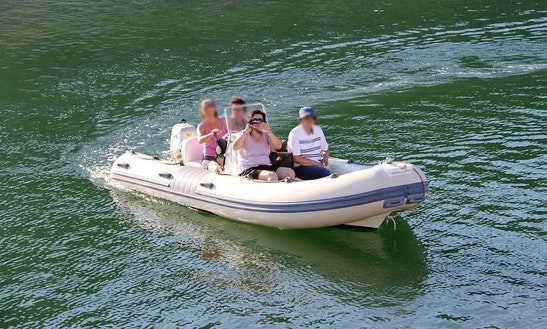 16' Rigid Inflatable Boat Rental In Bosa, Italy