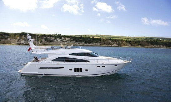 Luxury ''fairline Squadron 55'' Motor Yacht Charter In Spain