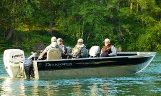 Fishing Trip Aboard A 24' Duckworth Sled Boat In Portland, Oregon