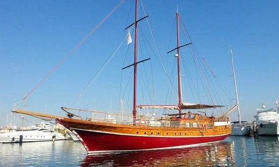 Charter A 75' Sailing Gulet For 12 Person In Larnaca, Cyprus