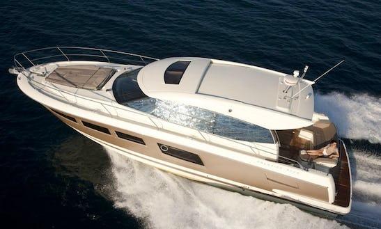 Jeanneau Prestige 50 Open Motor Yacht Charter For 7 Person In Port D'andratx, Spain