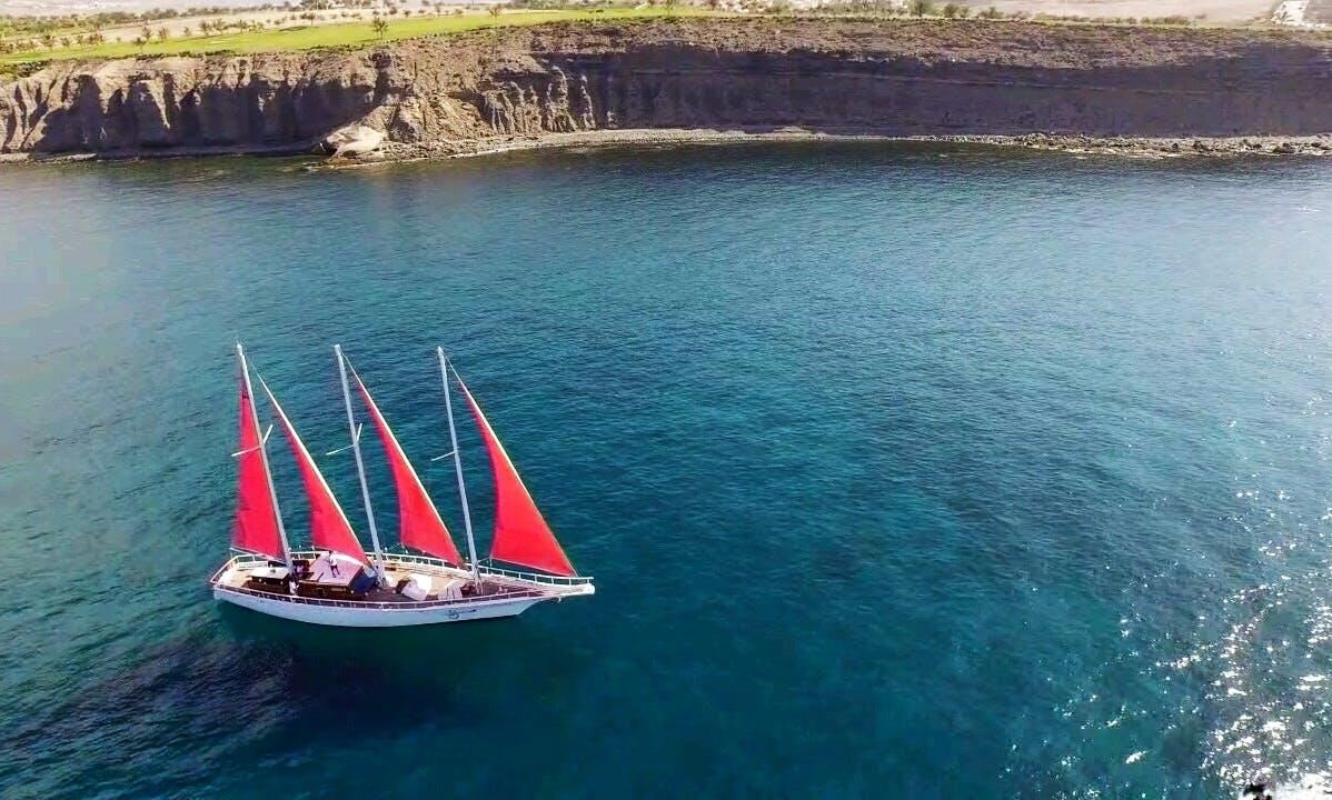 Classic Sailboat in Pasito Blanco