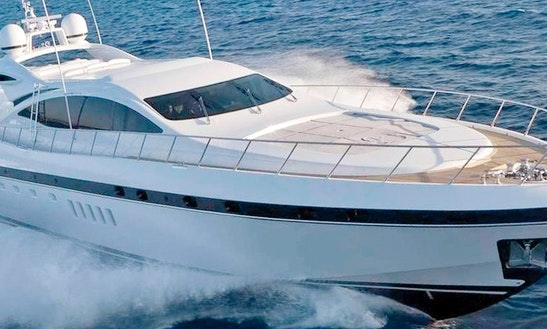 Charter 92' Mangusta Yacht In Cannes