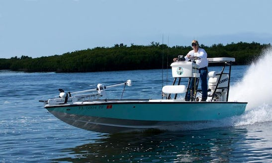 Guided Fishing Boat In Crystal River, Florida With Captain Kelly