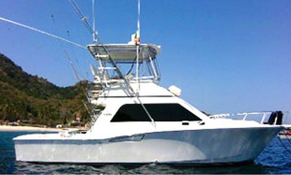 Full-Day 36' Sportfisher Charter in Ixtapa