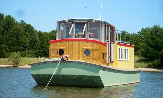Enjoy Saugatuck, Michigan On 30' Handbuilt Wooden Boat