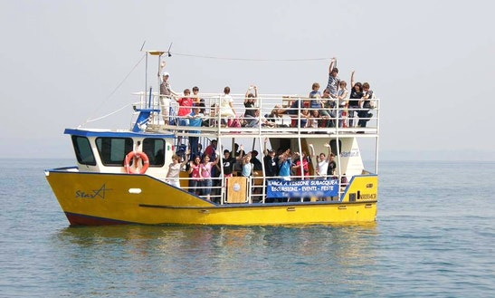 Hire 39' Star Tour Boat In Italy