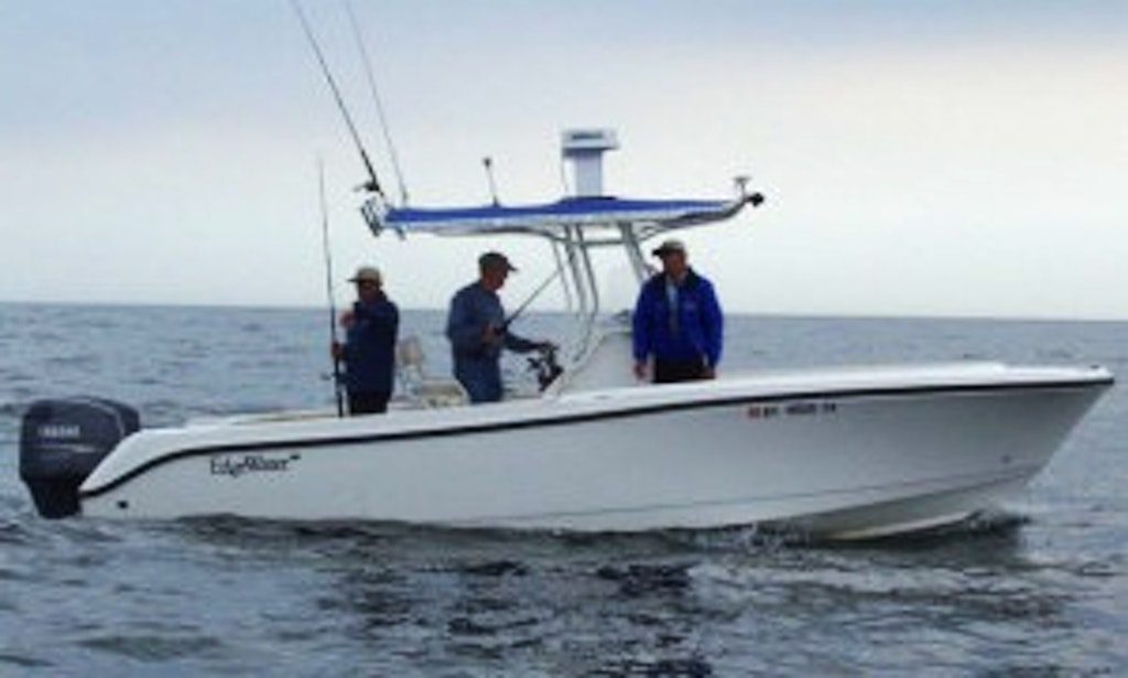 25ft edgewater center console boat rental in port for Fishing trips nyc