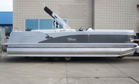 24' Tahoe Pontoon Boat In Eagle Bay