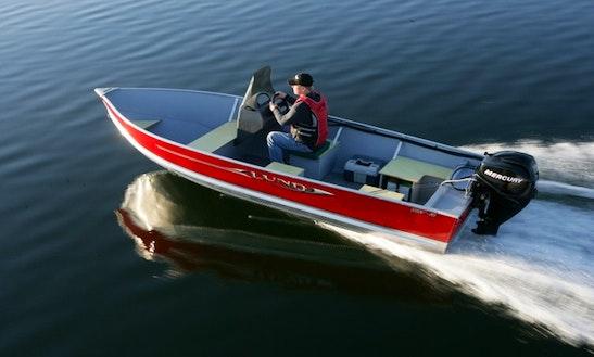 ''18' Lund'' Jon Boat Rental In Canada