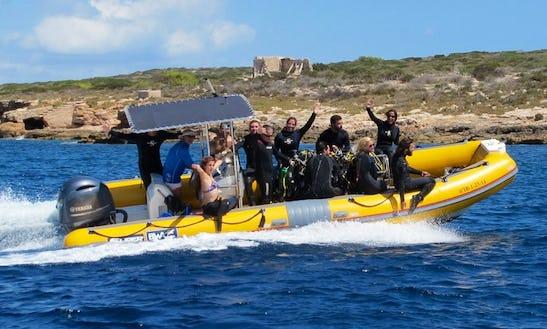 Dive Boat In Sant Jordi