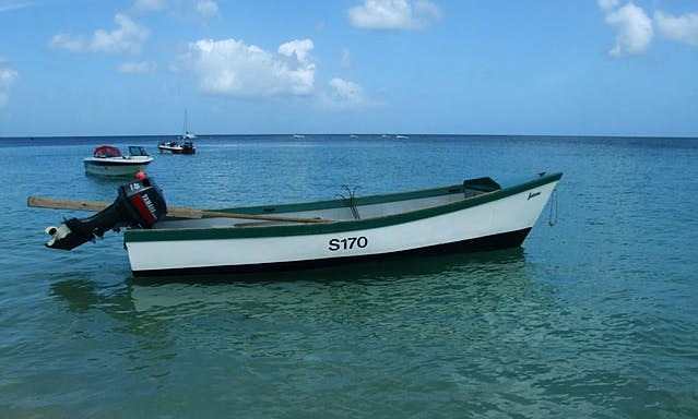 Traditional Fishing Boat In Holetown
