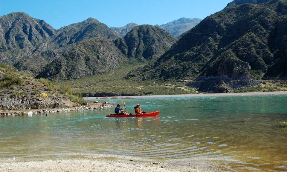 Half Day Kayak Trips (5 Km Route) through the Mendoza River in Argentina