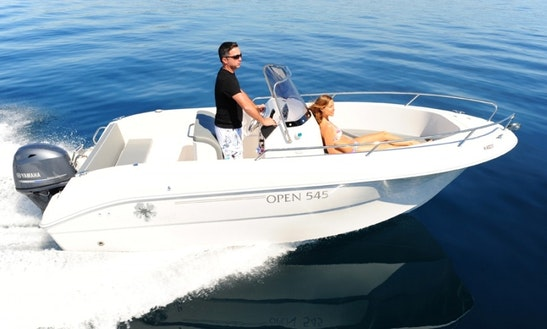 Center Console Luxurious ''pacific Craft 545 Open'' Rental In Saint-cyprien