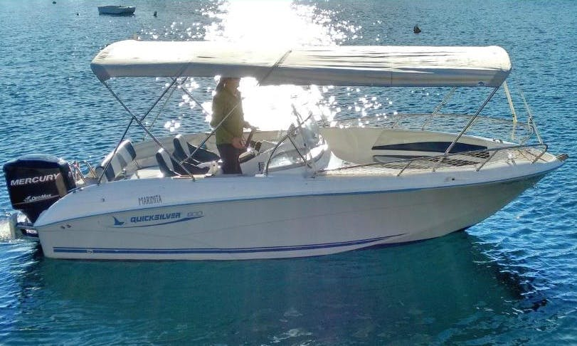 "Luxury ""Quick Silver 600 Commander"" Rental in Ibiza"