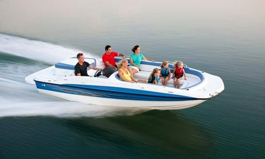 19' Deck Boat Rental In Traverse City, Michigan