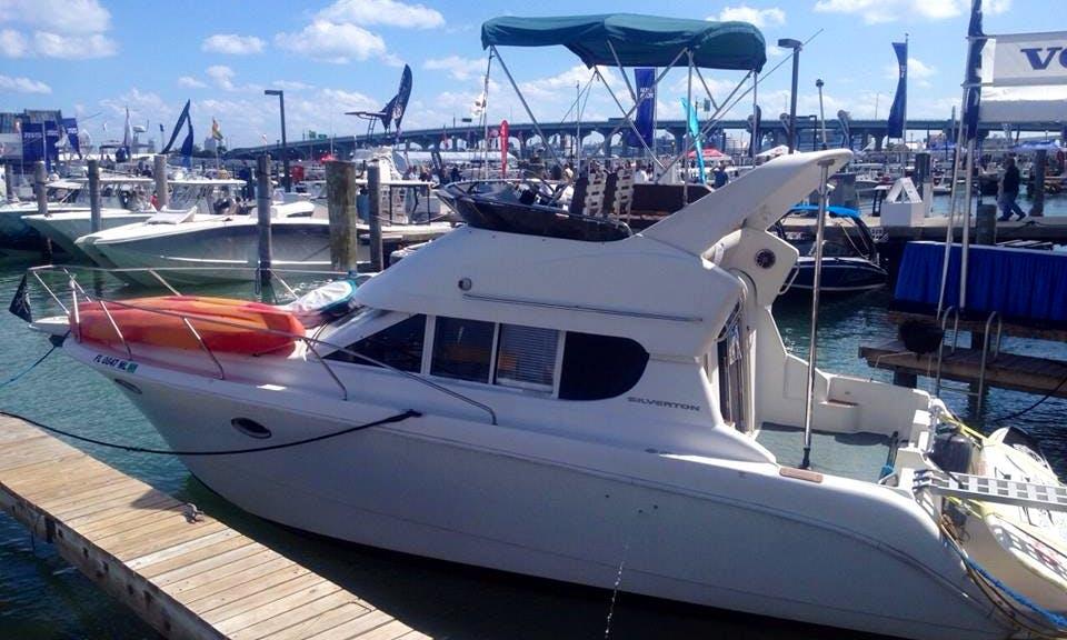 "34' Silverton Flybridge Cruiser ""Disco Boat"" Charter in Miami"