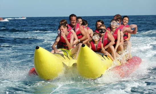 Fun Waveriding On A Banana Boat In Cala Millor