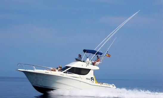 34' Sport Fisherman Fishing Charter In Port D'alcudia, Spain