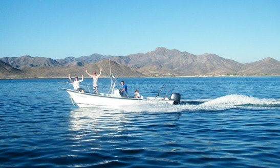 Guided Fishing Boat In Cabo Pulmo