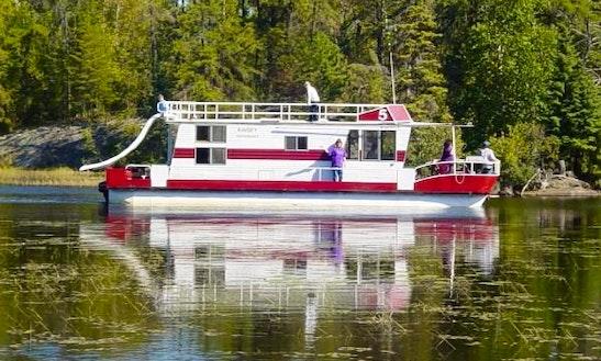 42' Boatel #5 Houseboat Rental In Babbitt