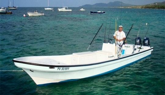 26ft Dinghy Panga Fishing Charter In Vieques, Puerto Rico