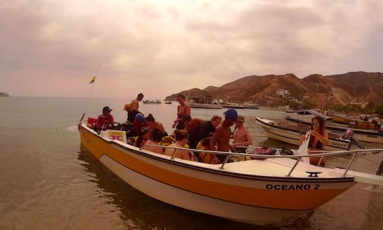 27ft Bass Boat Charter In Taganga, Colombia
