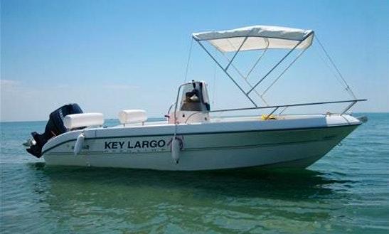 Hire The 19' Sessa Key Largo Power Boat And Explore Salina Islands