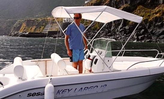 19' Bowrider Sessa Key Largo Charter In Malfa, Italy