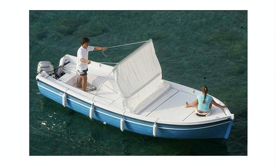 Lancia Motor Boat For 6 People Ready To Tour Around Aeolian Islands