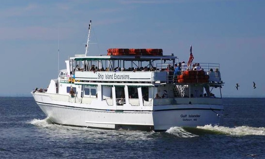 Private Cruises On 110' Gulf Islander Boat In Gulfport, Texas