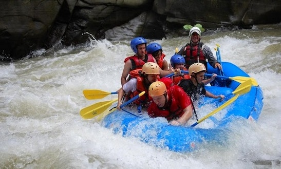 River Rafting On Pucuare River, Costa Rica