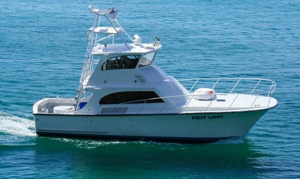 "Offshore Fishing Charter On 47ft ""First Light"" Sportfisher Yacht in Destin, Florida"