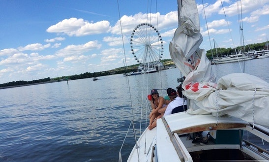 Enjoy Being Captained On This Cal25 Sailboat In The Heart Of D.c.