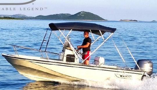 Sea Adventure In Croatian Sea With 5 Person Boston Whaler Center Console