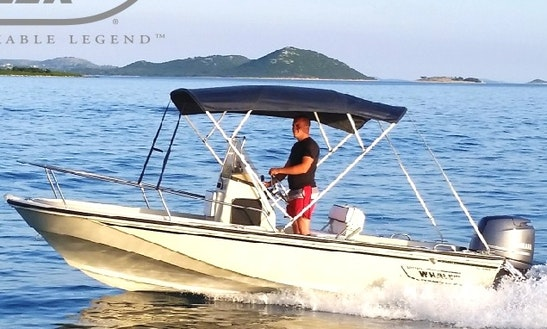 Sea Adventure In Croatian Sea With 5 Person Boston Whaler Center Console
