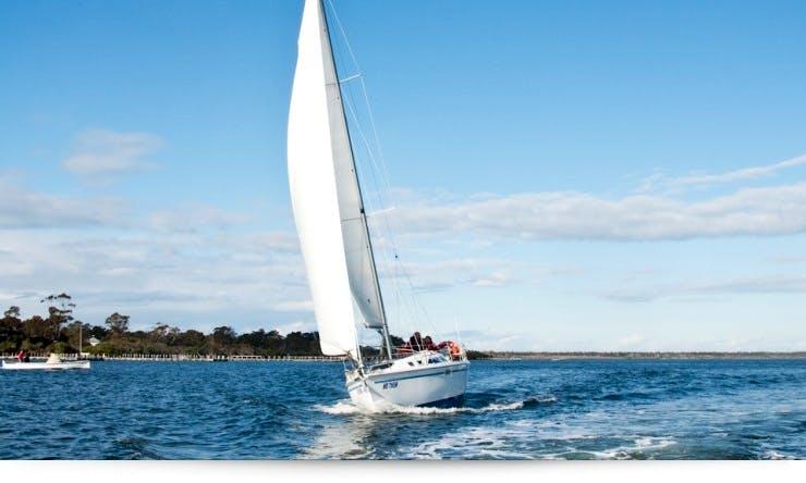 Enjoy Cruising Monohull Catalina 320 Charter in Metung, Victoria