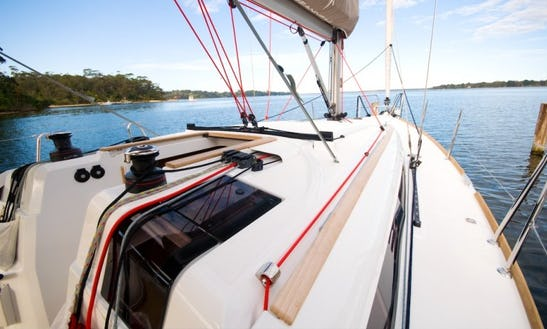Enjoy 37 Ft Cruising Monohull Jeanneau Sun Odyssey 379 Charter In Metung, Victoria