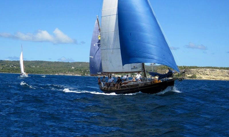"""Charter on 47ft """"Shalamar"""" Classic Yacht in Vieques, Puerto Rico"""