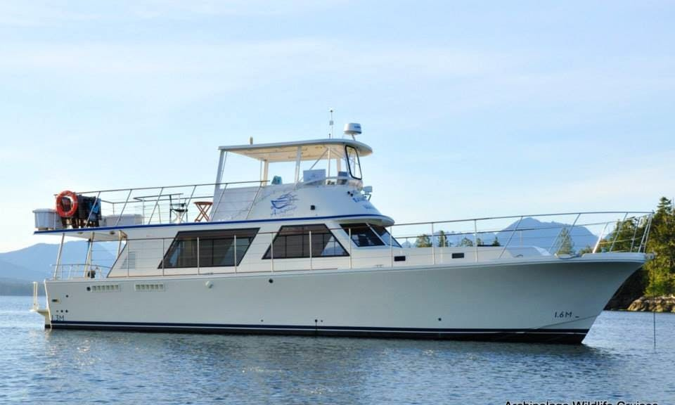 "53' Motor Yacht ""Raincoast Maiden"" Charter in Ucluelet, Canada"