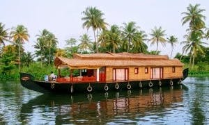 Houseboat Day Cruise and Overnigth Stay for 2 People in Alappuzha, Kerala
