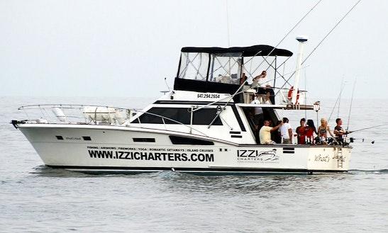 50ft Trojan Salom Sportfisherman Boat Charter In Kelowna, British Columbia